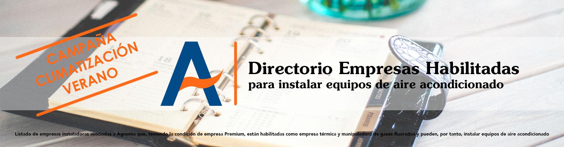 Directorio Empresas Habilitadas para instalar aire acondicionado