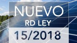 RD 15_2018 de medidas urgentes para la Transición Energética y la Protección de los Consumidores