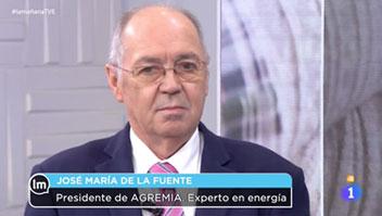 El Presidente de Agremia interviene como experto energético en TVE 1