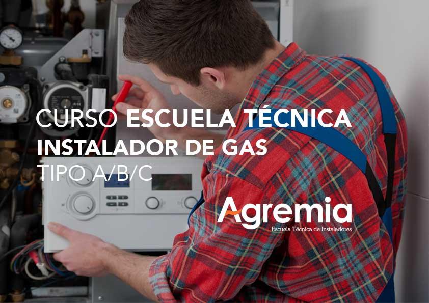 Curso Instalador de Gas tipo A/B/C