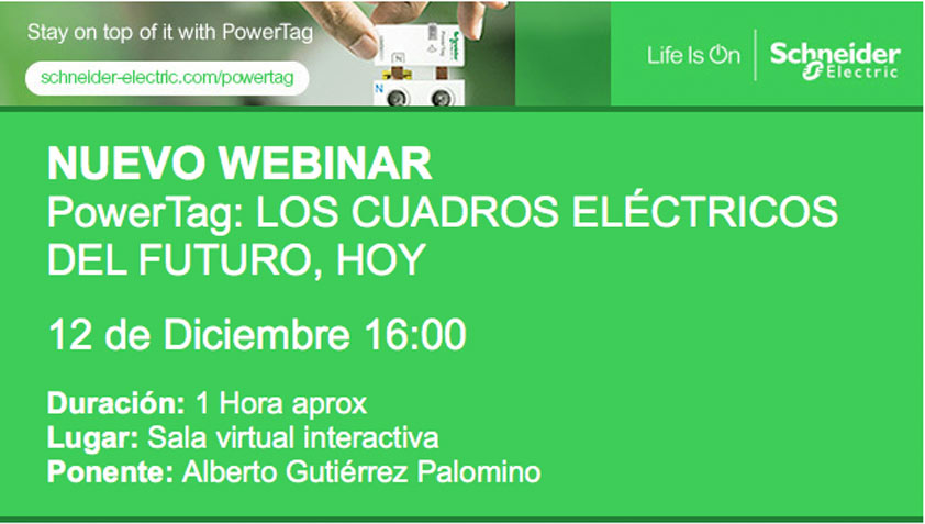 Webinar Schneider: Power Tag, los cuadros eléctricos del futuro, hoy