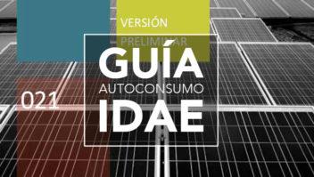 Guía autoconsumo IDAE, versión preliminar