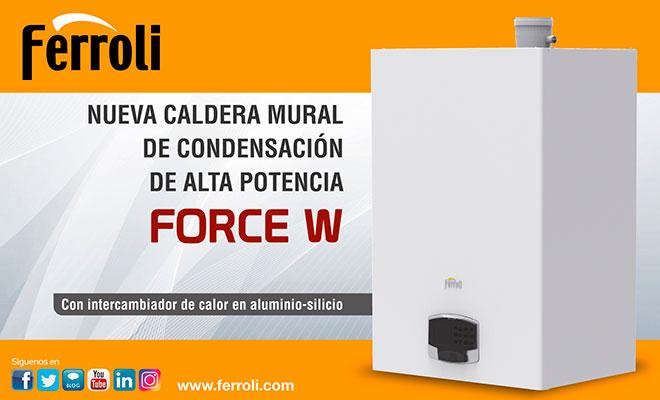 Nueva caldera condensación Ferroli