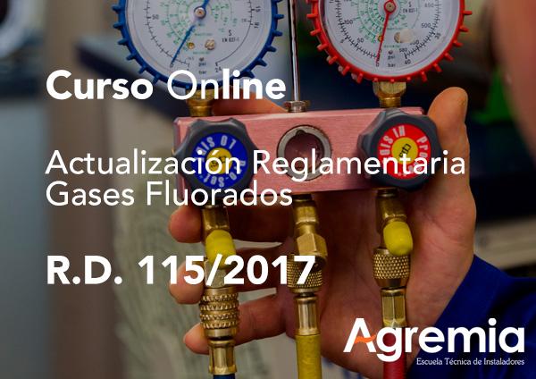 Curso online de actualización del R.D. 115/2017 sobre Gases Fluorados