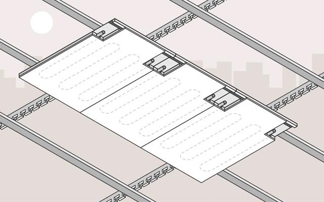 Sistema de control de climatización con una solución de techo radiante