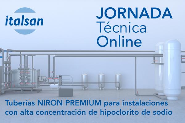 Jornada Italsan: Tuberías NIRON PREMIUM para instalaciones con alta concentración de hipoclorito de sodio