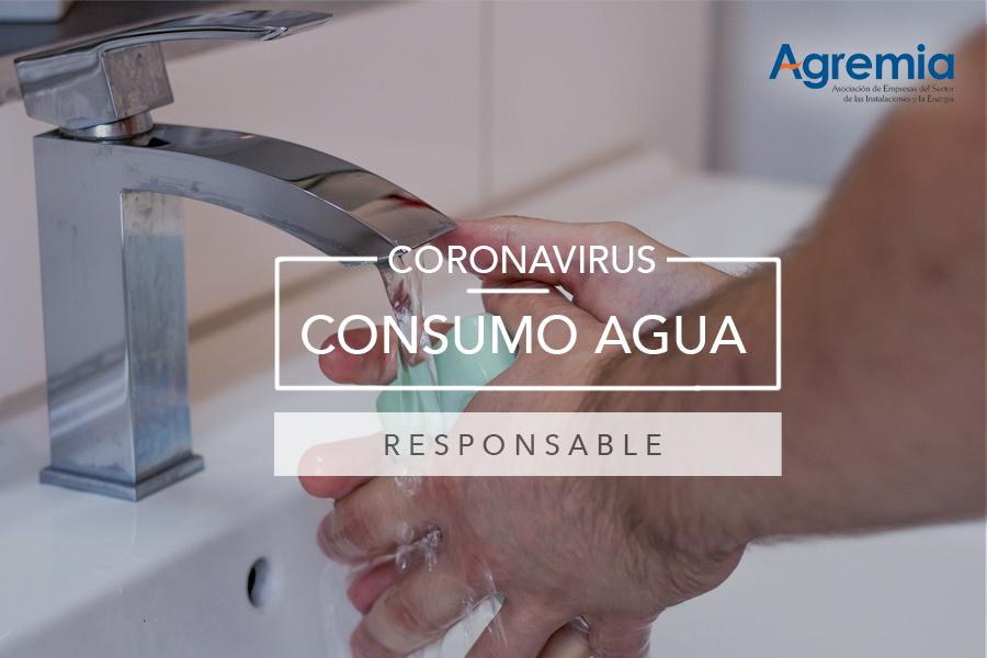 consumo agua coronavirus