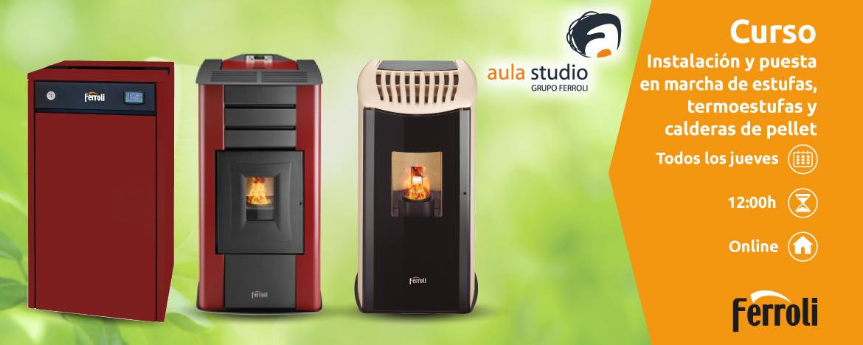 Webinar FERROLI: Instalación y puesta en marcha de estufas, termoestufas y calderas de pellet