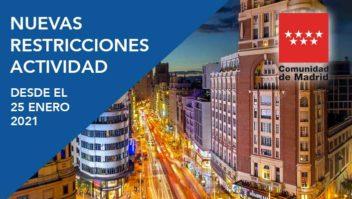 restricciones actividad Madrid enero 2021