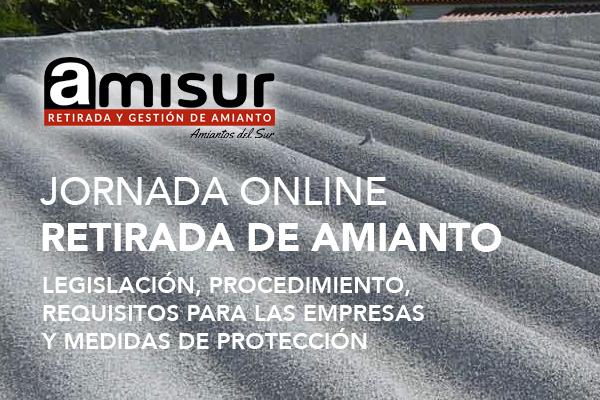 Webinar AMISUR: Retirada de amianto: Legislación, procedimiento, requisitos empresa y medidas de protección